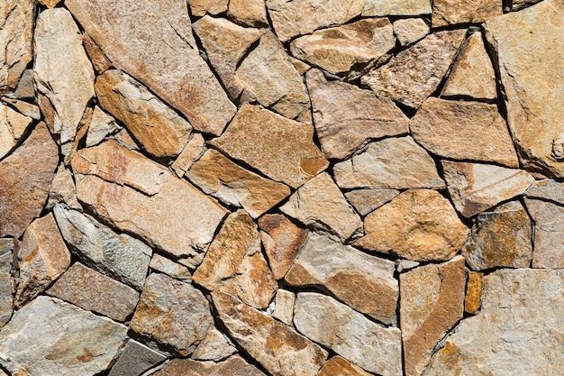 グランジレンガの壁。背景の古い岩壁のテクスチャ。背景またはテクスチャとしての石の壁。