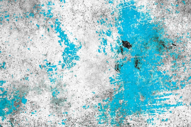 Grunge concrete wall blue color for texture background