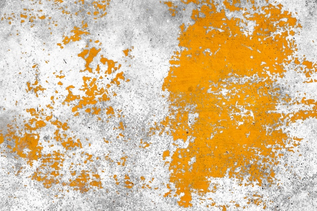 Grunge concrete wall yellow color for texture background