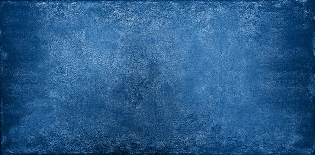 グランジ暗い青い石のテクスチャ背景