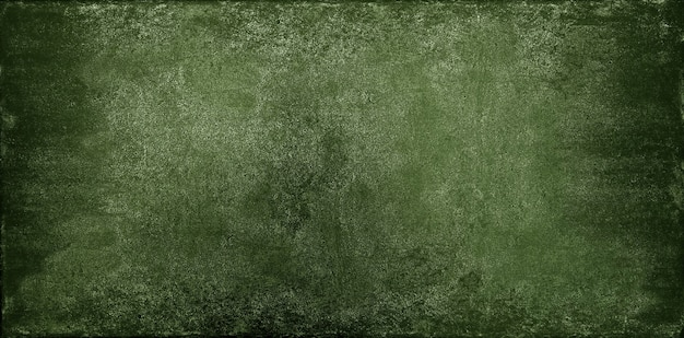 Grunge dark green uneven stone texture background with cracks and stains
