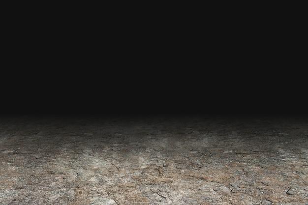 暗い背景とグランジの床