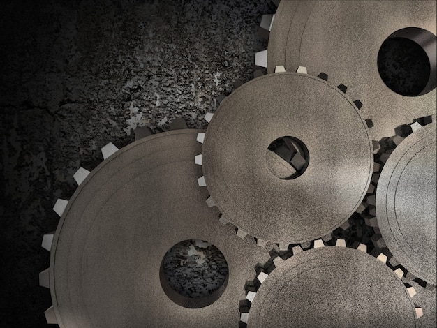 Grunge gears abstract background