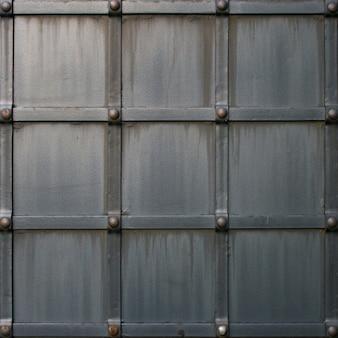 リベットとグランジ灰色の金属テクスチャ背景