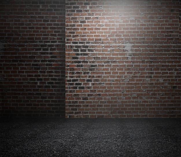 Grunge interior design background for studio photographers. dark street