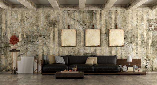 Grunge living room