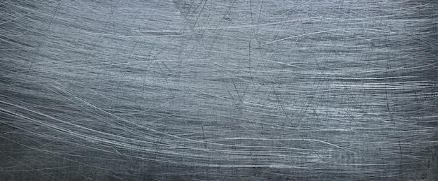 グランジ金属の背景、アルミニウムの質感またはステンレス鋼のクローズアップ。全景
