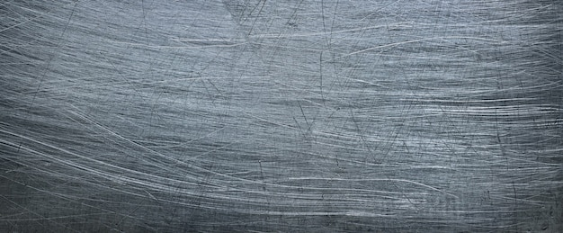 Grunge metal background, aluminum texture or stainless steel close-up. panoramic view