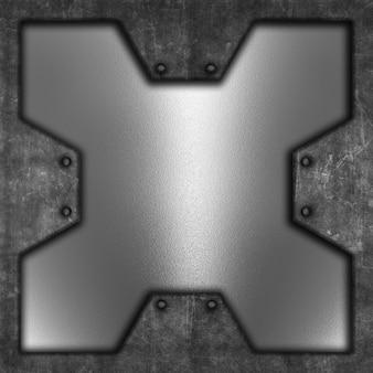 Металлический гранж-фон