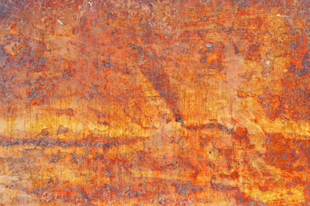 Grunge metal coroded texture. old rusty metal plate heavily aged corrosion stain creates a grungy frame.