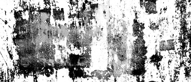 Grunge metal and dust scratch black and white texture background panorama