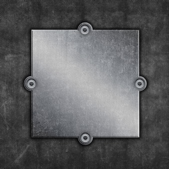 Grunge metal frame background