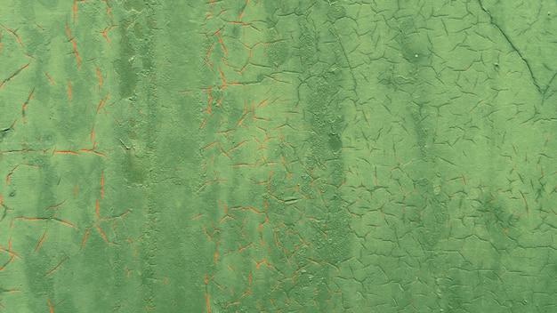 グランジメタリックグリーンペイント壁の背景