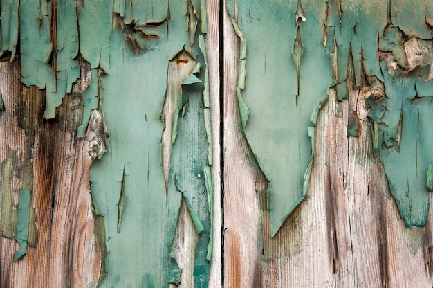 Grunge painted wood