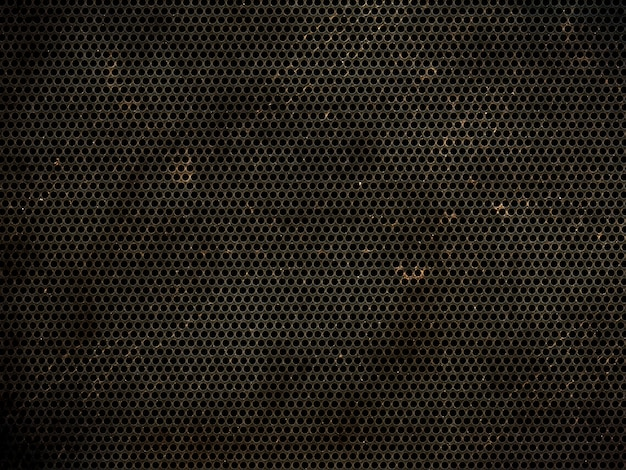 Grunge perforated metallic texture background