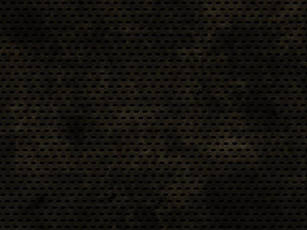 Grunge perforated metallic texture background