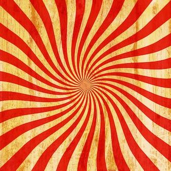 Grunge red and orange vintage sunburst swirl, twirl background texture