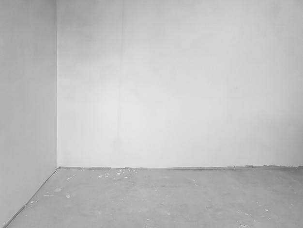 회색 색상으로 장식되지 않은 그루지 룸 인테리어 - 시멘트 벽 및 바닥