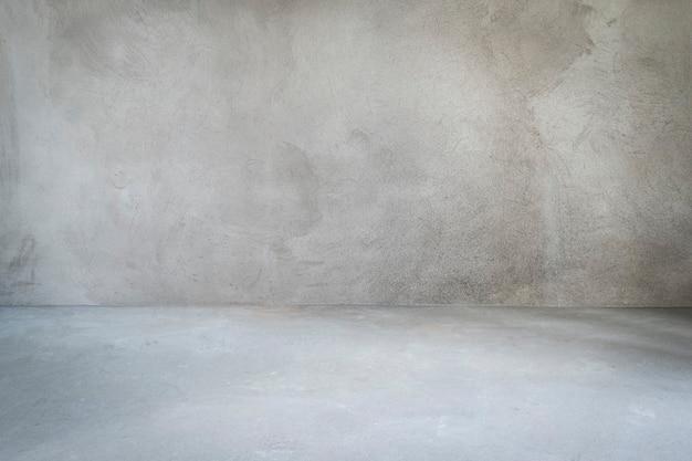 灰色の装飾のないグランジ部屋のインテリア