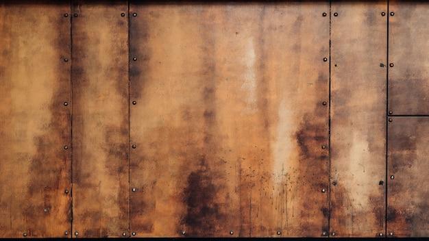 グランジ錆びた金属テクスチャ背景。バナーデザインのモックアップの背景