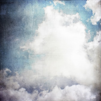 Grunge sky and clouds background