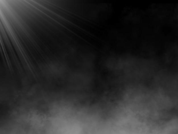 霧の雰囲気の中でスポットライトとグランジスタイルの背景