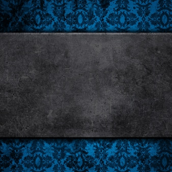 Grunge style concrete on a floral background