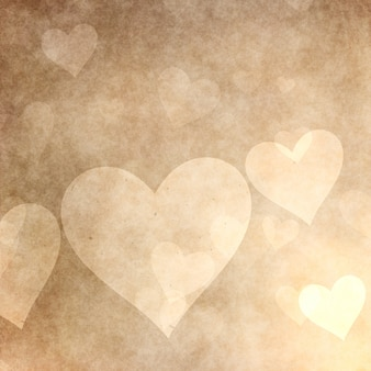 Grunge style hearts background for valentine's day