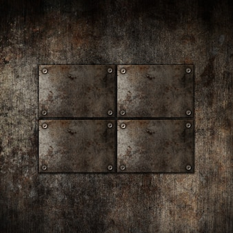 グランジスタイルの金属板の背景
