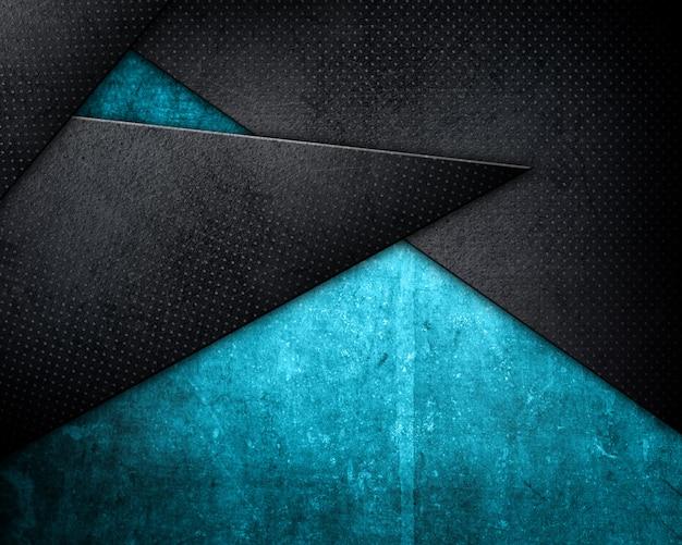 青い色合いのグランジスタイルの金属製の背景