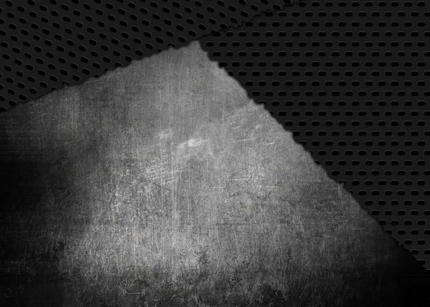 グランジスタイルの傷やひびの入った金属テクスチャの背景