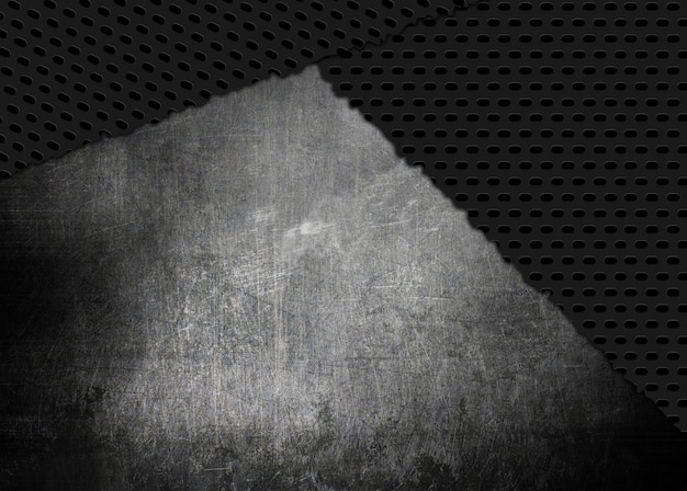 Grunge style scratched and cracked metal texture background