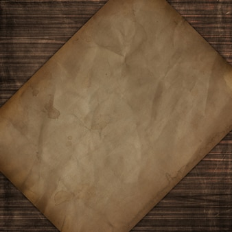 Grunge style wooden texture with old paper design