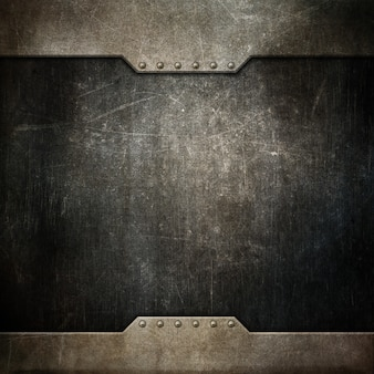 Grunge texture background with metallic design