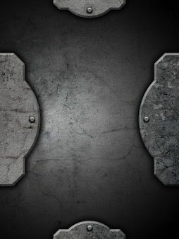 Grunge textured background with frame and rivets