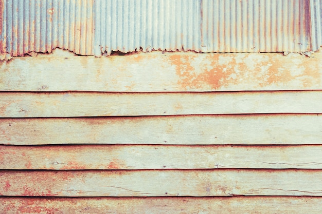 Grunge wood and metal abstract texture background
