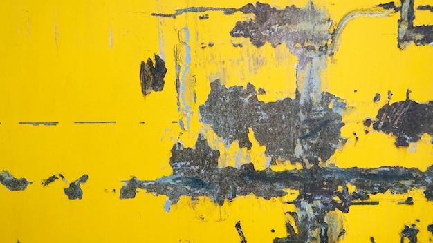 Grunge желтый ржавый металлический фон пластины