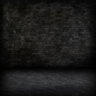 Grunge стиль изображения темного интерьер комнаты