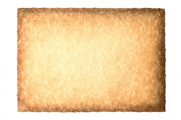 Винтажный старый перечень бумаги текстуры предпосылки grunge изолированный на белизне.