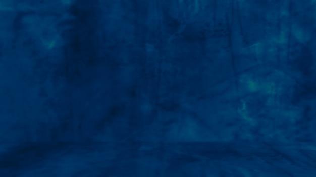 レトロなパターンの壁の概念的な壁としての天然セメントまたは石の古いテクスチャの汚れた青い背景...