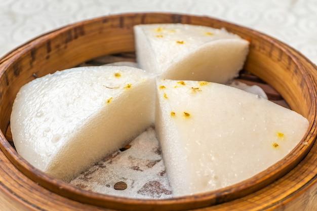 広州、中国、特別なモーニングティー、ケーキ、スナック