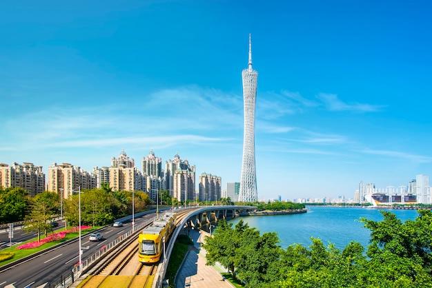 中国の広州市ライトレール列車