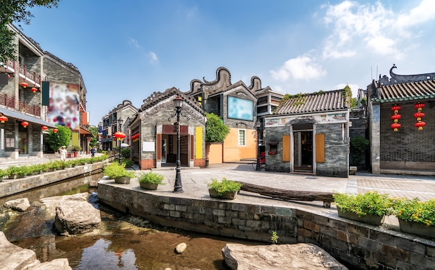 광저우 링난 고대 건물 및 가옥