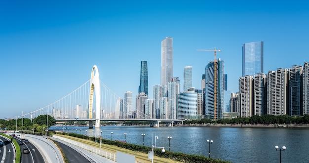 Гуанчжоу современная городская архитектура пейзаж горизонт