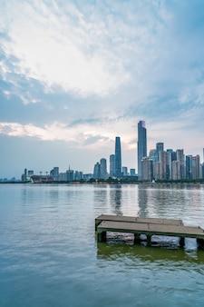 Красивый городской архитектурный ландшафт гуанчжоу
