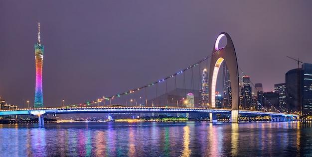 広州のスカイライン。広州、中国