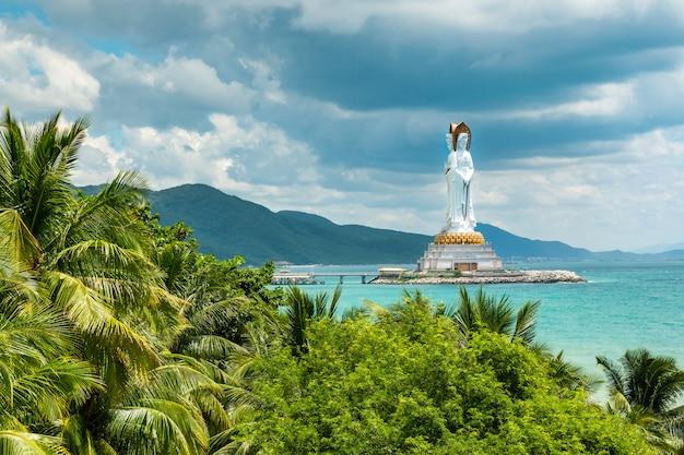 Guanyin statue in nanshan, hainan, china