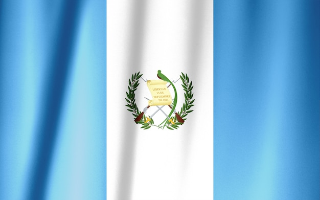 Guatemala flag pattern on the fabric texture ,vintage style
