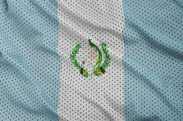 Guatemala flag printed on a polyester nylon mesh