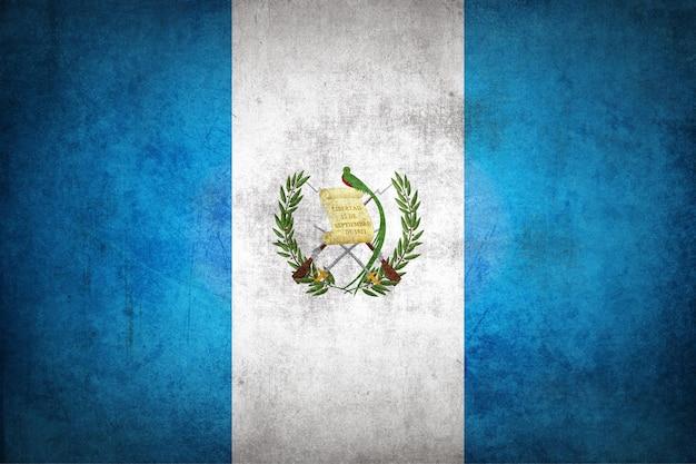 グランジテクスチャのグアテマラの旗。